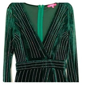 Velvet Green Statement Dress